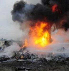 Kazakistan'da askeri uçak düştü: 1 ölü, 1 yaralı
