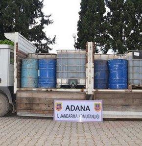 Jandarma ekiplerinin yaptığı çalışmalarda 5 bin 120 litre kaçak akaryakıt ele geçirildi