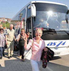 Turistleri taşıyan otobüs hacizli çıkınca...