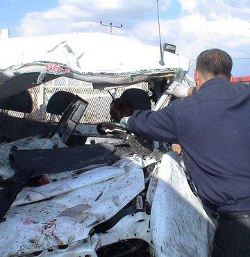 Van'da feci trafik kazası