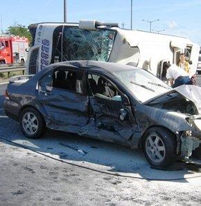 Yozgat'ta trafik kazası: 35 yaralı