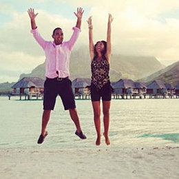 Genç çiftin mutluluk tatili