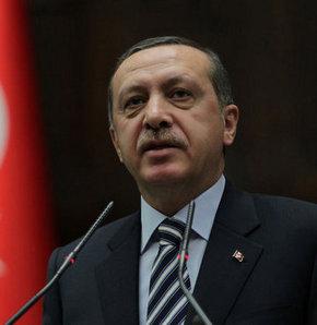 Başbakan Tayyip Erdoğan, AK Parti'li belde belediye başkanlarına hitaben bir konuşma yapıyor.