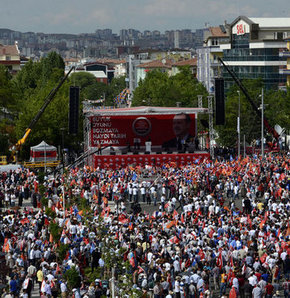 AK Parti'nin Ankara mitingi hazırlıkları