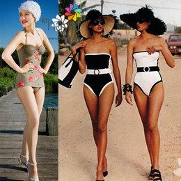 Plajda retro mayo modası...