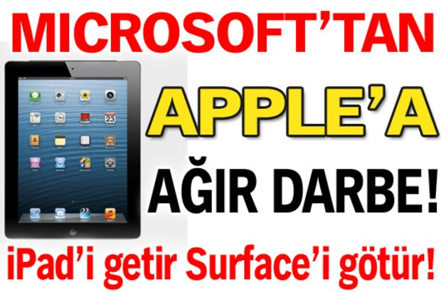 Microsoft'tan Apple'a ağır darbe!
