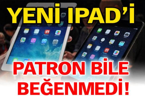 Yeni iPad'i kurucusu bile beğenmedi!