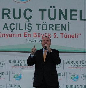 Başbakan Recep Tayyip Erdoğan, Suruç, tünel