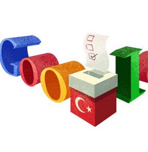 Google, Türkiye, yerel seçimler özel logo, doodle