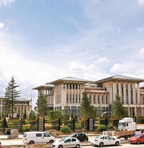 Başbakanlık binasının inşaatı büyük ölçüde bitti, İskeleler söküldü yeni Başbakanlık göründü, Başbakanlık binasının son halini Habertürk görütüledi