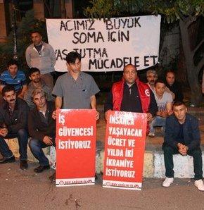 Temizlik işçilerinden 'iş bırakma' eylemi, Şişli Hamidiye Etfal Hastanesi, Şişli iş bırakma, iş bırakma eylemi, Soma maden faciası, Soma maden, maden faciası, sendikal haklar