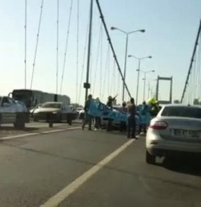 Boğaziçi Köprüsü'nden Soma eylemi: 1 gözaltı