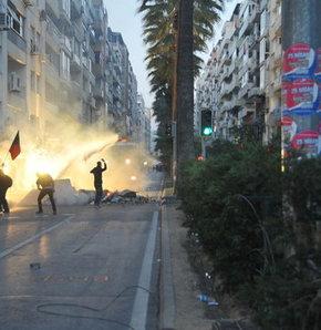 İzmir'de gösterilerin dördüncü gününde de olaylar durulmadı, İzmir'de Soma protestosu, Soma maden kazası, soma, maden kazası, İzmir'de Soma gözaltısı
