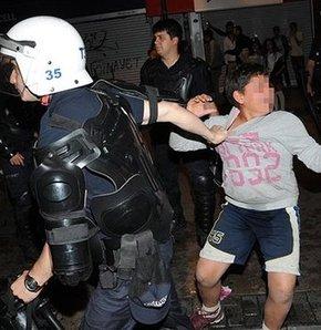 İzmir'de Soma protestoları sırasında 10 yaşındaki çocuğun gözaltına alınmak istendiği iddiası