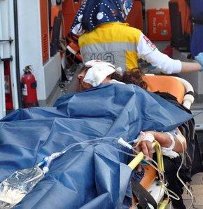 Öfkeli koca dehşet saçtı!,Suriyeli öfkeli koca dehşet saçtı,Suriye uyruklu bir kişi karısını önce dövdü sonra bıçakladı