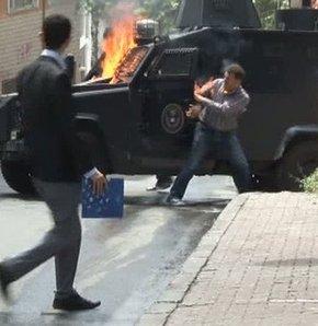 Okmeydanı Uğur Kurt yanan akrep aracı polis ifade
