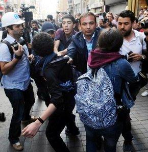 Polis Taksim'de 2 çocuğu gözaltına almak istedi, milletvekilleri polise tepki gösterdi