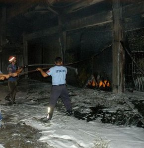 Mazot bulunduğu iddia edilen depoda patlama