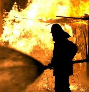 Kütahya'nın Simav ilçesinde çöplükte yangın çıktı