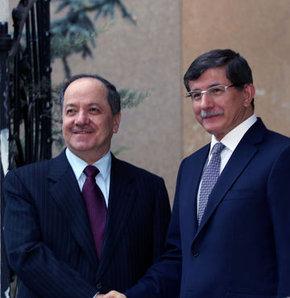 Dışişleri Bakanı Davutoğlu Barzani ile görüştü