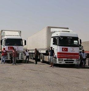 Kızılay'ın gönderdiği yardımlar Erbil'e ulaştı