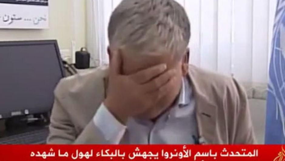 BM sözcüsü Gazze için ağladı
