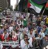 CNN önünde İsrail protestosu