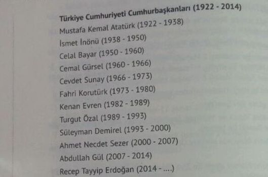 Recep Tayyip Erdoğan'ı, 12. Cumhurbaşkanı olarak yazdılar!