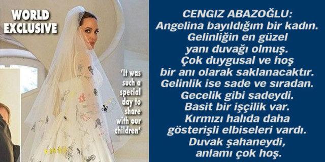 Modacılar Angelina Jolie'nin gelinliği için ne dedi?