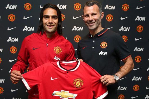 Transferin son günlerinde United, Monaco'nun Kolombiyalı forveti Radamel Falcao'yu satın alma opsiyonuyla 1 yıllığına kadrosuna katmayı başardı