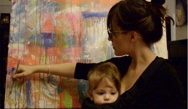 Kızı çizdi Annesi Efsaneleştirdi Ressam Anne Kızının Yaptığı