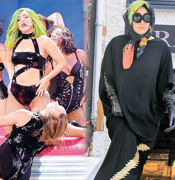 Gaga'sını göstermedi!