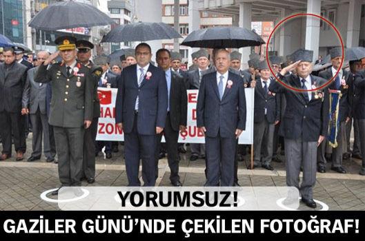 Gaziler Günü'nde çekilen fotoğraf tartışma yarattı!