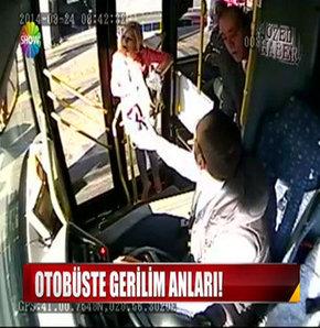 Otobüste gerilim anları!