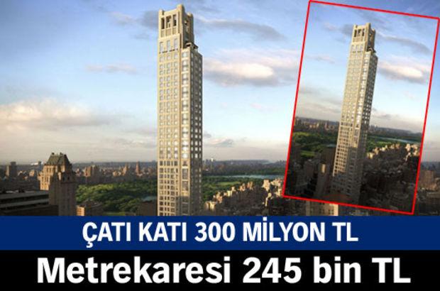 Çatı katı 300 milyon TL, Metrekaresi 245 bin TL, ABD, New York, Central Park, 520 Park Avenue.
