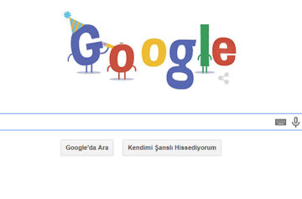 Google kendi doğum günü için Doodle hazırladı