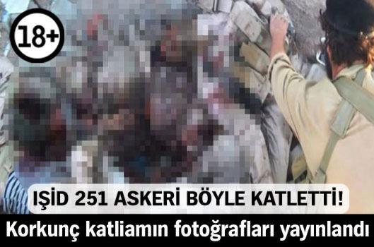 IŞİD, korkunç katliamın fotoğraflarını yayınladı