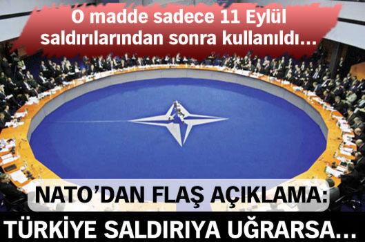 NATO'dan flaş açıklama