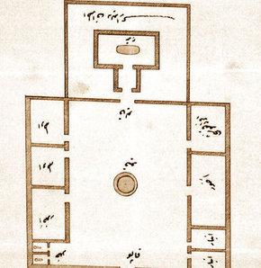 İşte, Abdülhamid'in 'Türk Mezarı'nın inşası için çizdirdiği ilk plân