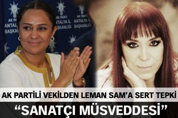 AK Partili vekilden Leman Sam'a sert tepki