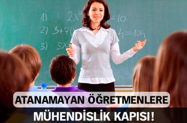 Milli Eğitim Bakanlığı, atanamayan öğretmen adaylarına 'mühendislik' kapısını açıyor
