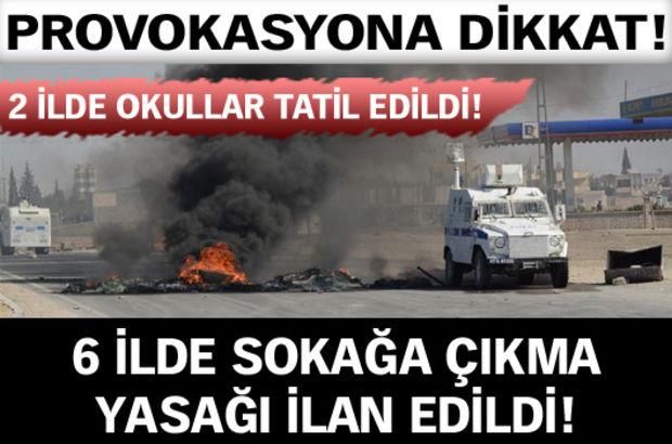 Diyarbakır, Mardin, Van, Siirt, Batman ve Muş'un bazı ilçelerinde ikinci bir emre kadar sokağa çıkma yasağı ilan edildi