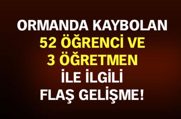 Yalova'da kaybolan 52 öğrenci ve 3 öğretmen bulundu!