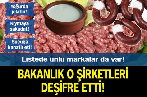 Tarım Bakanlığı Sucuk Yoğurt şirketlerini Açıkladı Haberler