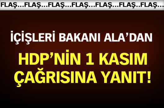 Efkan Ala: HDP'nin çağrısı yasadışıdır, buna uyulmamalıdır