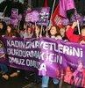 """Beyoğlu'nda """"kadına yönelik şiddet"""" protestosu"""