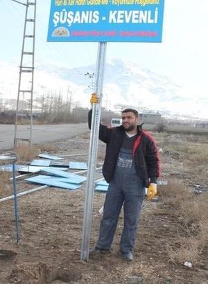 23 köye eski isimleriyle tabela asıldı