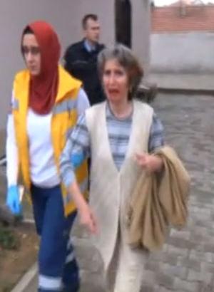 Maskeli hırsız yaşlı kadını bu hale getirdi