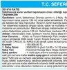 T.C. SEFERİHİSAR (SULH HUKUK MAH.) SATIŞ MEMURL...
