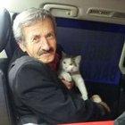 Kedisiyle mahsur kaldı, kurtarıldı